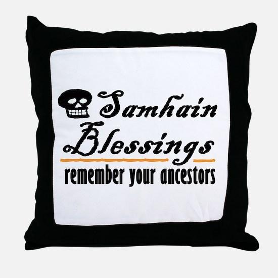 samhain one Throw Pillow