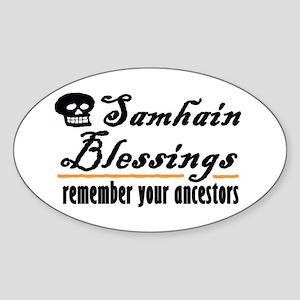 samhain one Oval Sticker