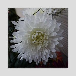 White Chrysanthemum Queen Duvet