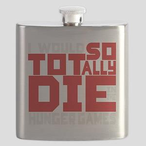 Tragic Tribute (Black Background) Flask