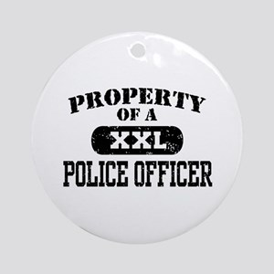 Property of a Police officer Ornament (Round)
