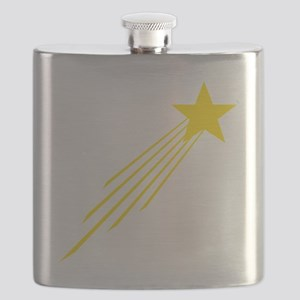 shooting star yellow Flask