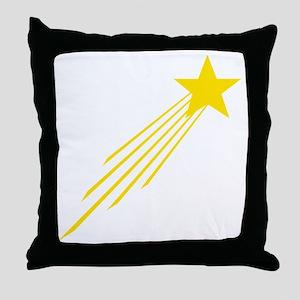 shooting star yellow Throw Pillow