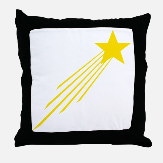 shooting star yellow Throw Pillow