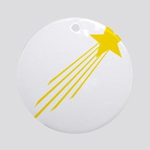 shooting star yellow Round Ornament