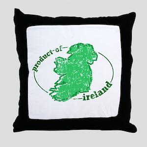 """Product of Ireland"" Throw Pillow"
