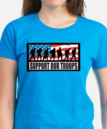 Support our troops - Infantry Women's Dark T-Shirt