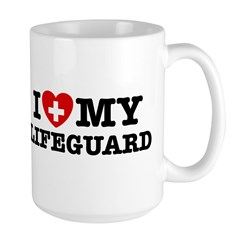 I Love My Lifeguard Large Mug