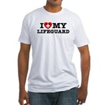 I Love My Lifeguard Fitted T-Shirt