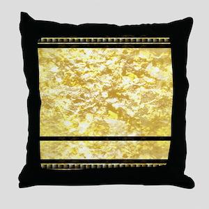goldpatternshowerduvet Throw Pillow