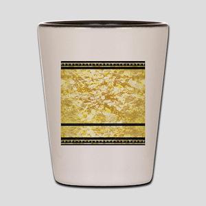 goldpatternshowerduvet Shot Glass