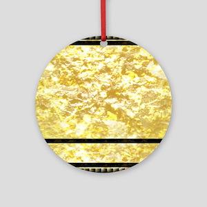 goldpatternshowerduvet Round Ornament