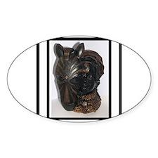 The (Female) Mask/Mask Oval Sticker