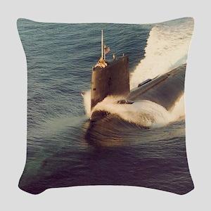 shark framed panel print Woven Throw Pillow