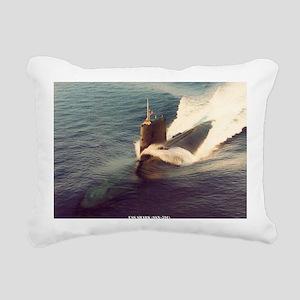 shark framed panel print Rectangular Canvas Pillow