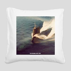 shark framed panel print Square Canvas Pillow