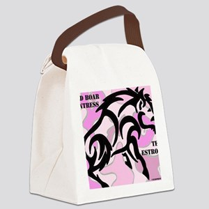 Wild Boar HUntress Canvas Lunch Bag