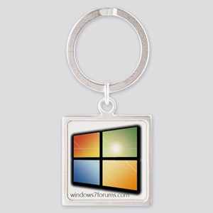 Windows7Forums.com Branded Square Keychain