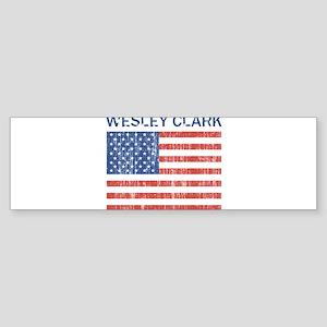 WESLEY CLARK (Vintage flag) Bumper Sticker