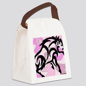 Pink Camo Tribal Boar Canvas Lunch Bag