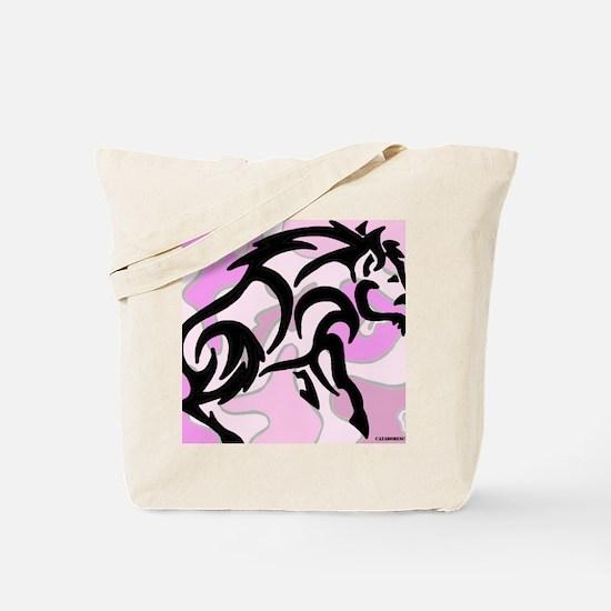 Pink Camo Tribal Boar Tote Bag