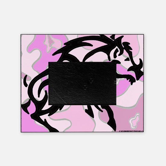 Pink Camo Tribal Boar Picture Frame