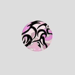 Pink Camo Tribal Boar Mini Button