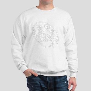 Skewed Tiger White Transparency Sweatshirt