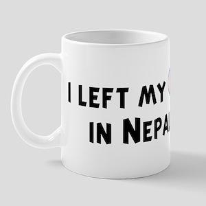 Left my heart in Nepal Mug