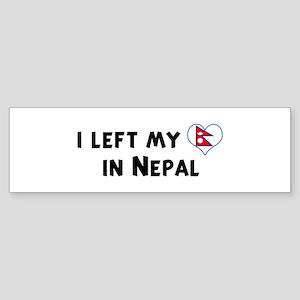 Left my heart in Nepal Bumper Sticker