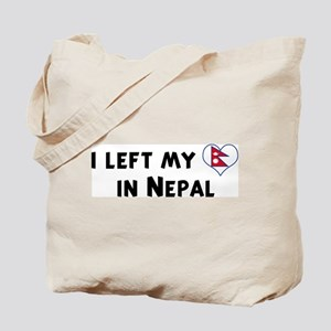 Left my heart in Nepal Tote Bag