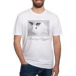 White Bunny Hugger Fitted T-Shirt
