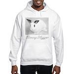 White Bunny Hugger Hooded Sweatshirt