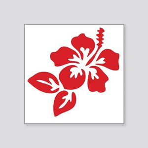 "hibiscus-01 Square Sticker 3"" x 3"""