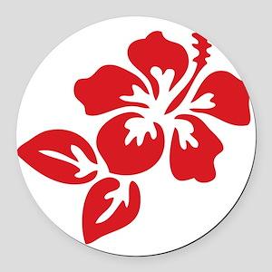 hibiscus-01 Round Car Magnet