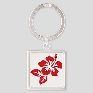 hibiscus-01 Square Keychain
