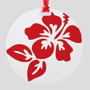 hibiscus-01 Round Ornament