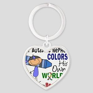 D NEPHEW Heart Keychain