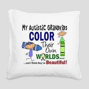 D Grandkids Square Canvas Pillow