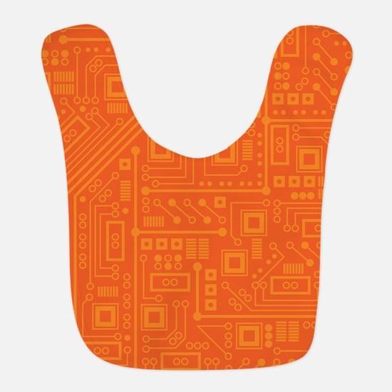 Orange Circuit Board Bib