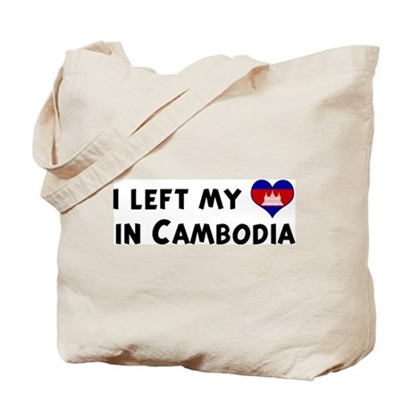 Left my heart in Cambodia Tote Bag