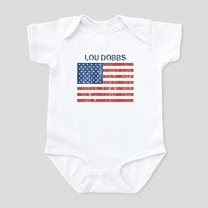 LOU DOBBS (Vintage flag) Infant Bodysuit