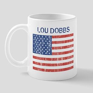 LOU DOBBS (Vintage flag) Mug