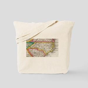 Vintage Map of North Carolina (1822) Tote Bag