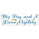 I Love Agility 2 Bumper Sticker