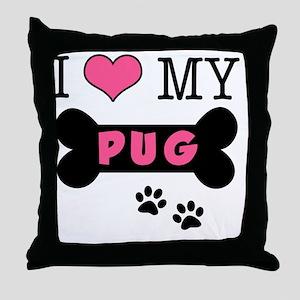 dogboneILOVEMY Throw Pillow