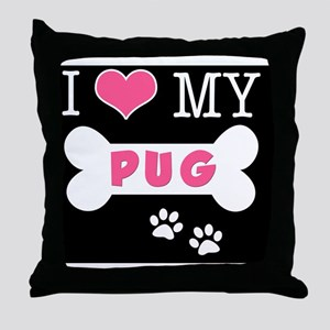 dogboneILOVEMY(carmag) Throw Pillow