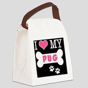dogboneILOVEMY(carmag) Canvas Lunch Bag