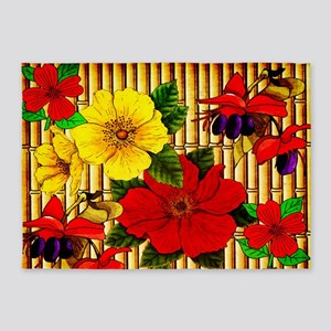 Bamboo Flowers 5'x7'Area Rug