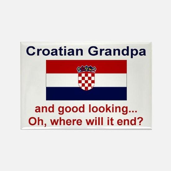 Good Looking Croatian Grandpa Rectangle Magnet